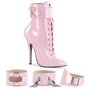 """Shoes - 6"""" Heel Heel Stiletto Zip Lace-Up Cuff Ankle Boots"""